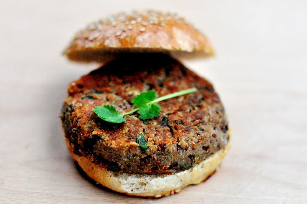 Bread and Companatico | Red Lentils And Celery Root Vegetarian Burger