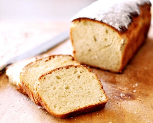 sweeet bread in a pan