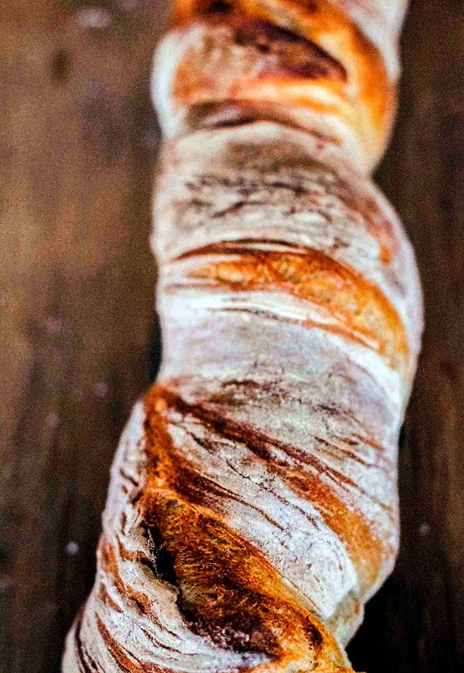 sourdough twisted baguette