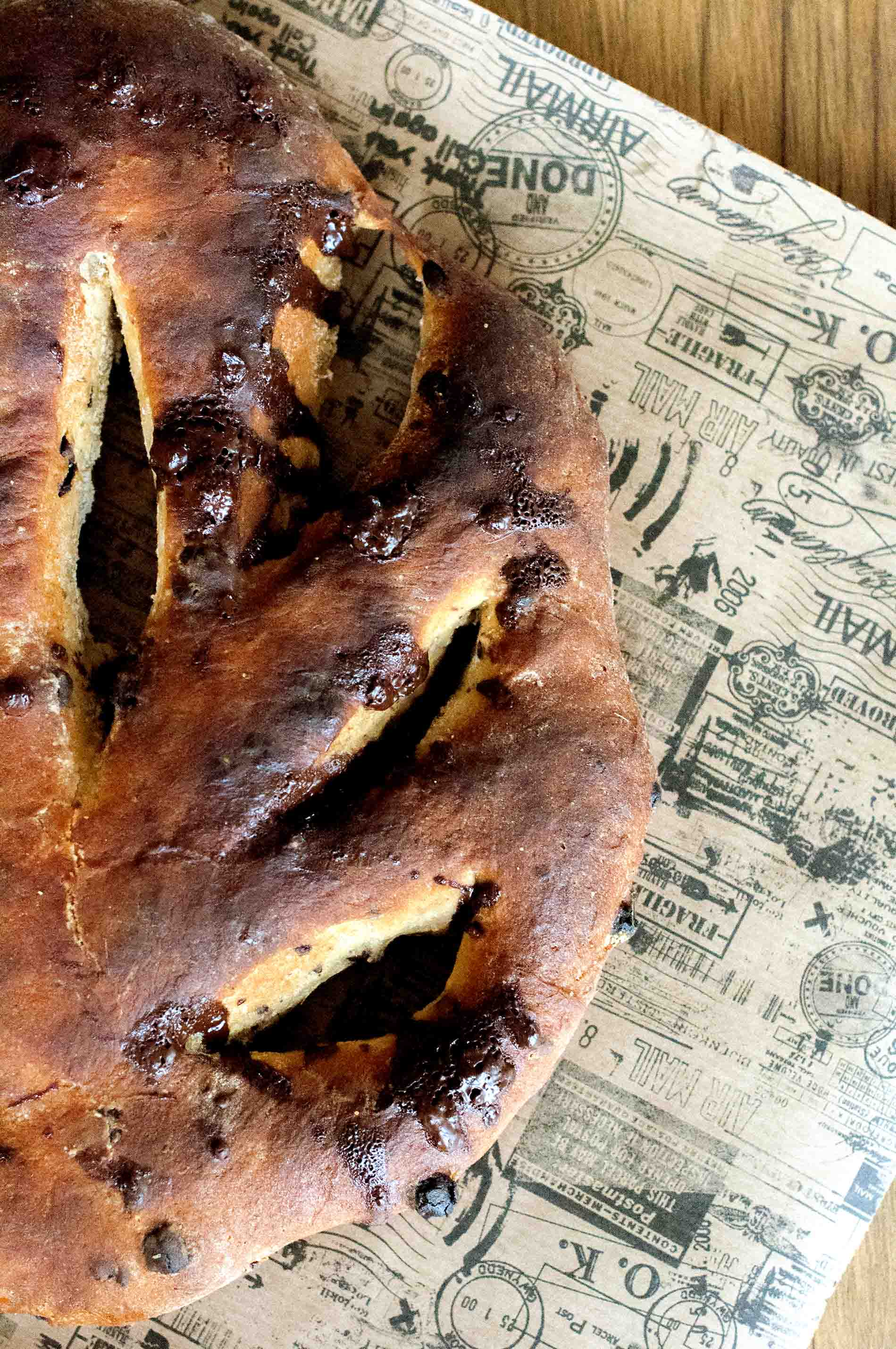 Chocolate Lemon Fougasse