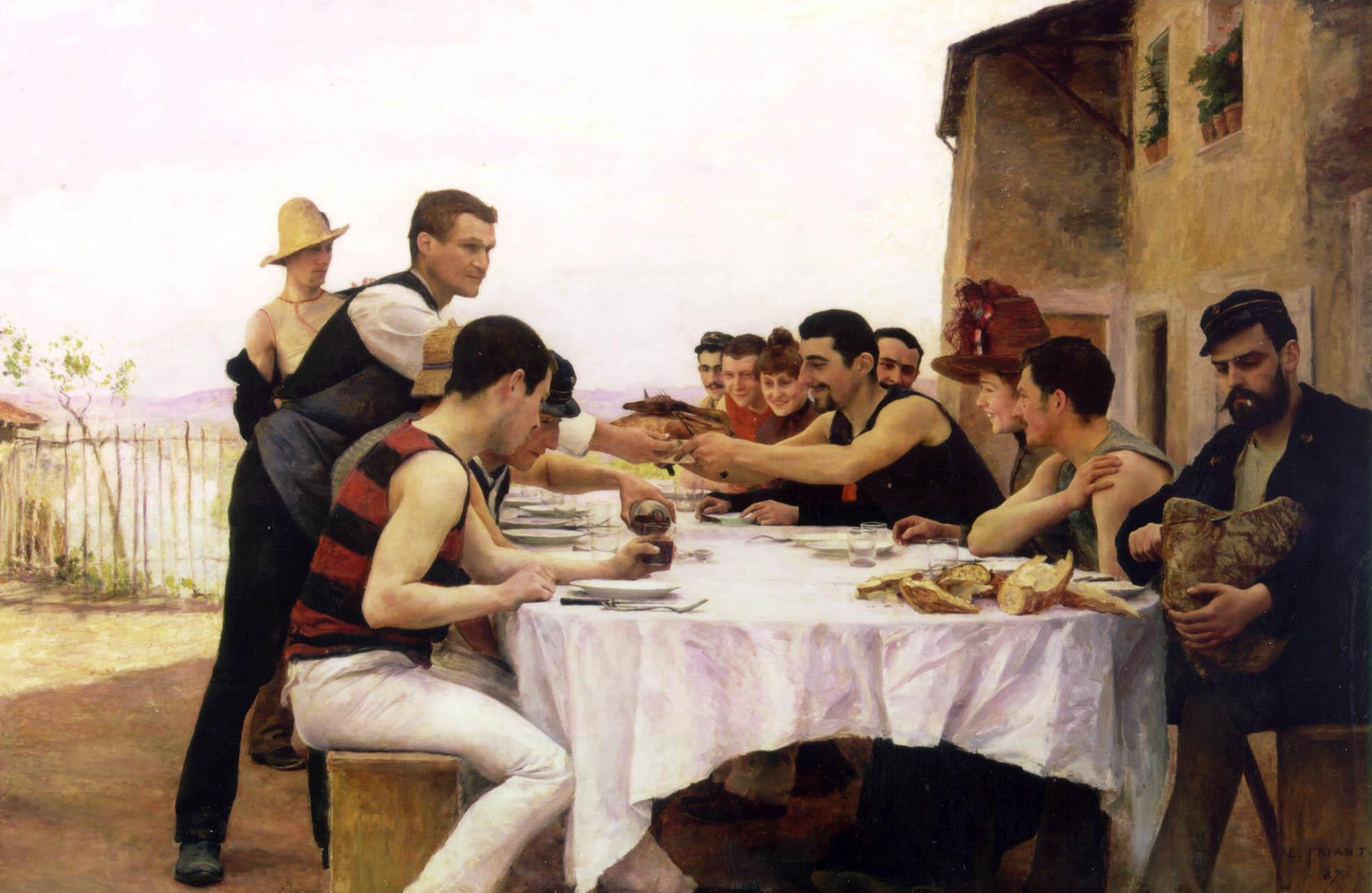 Emile Friant Les Canotiers de la Meurthe 1888
