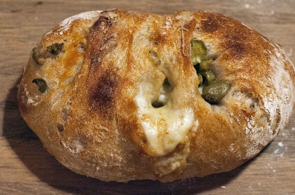 Olive-Taleggio-Gruyere Ciabatta
