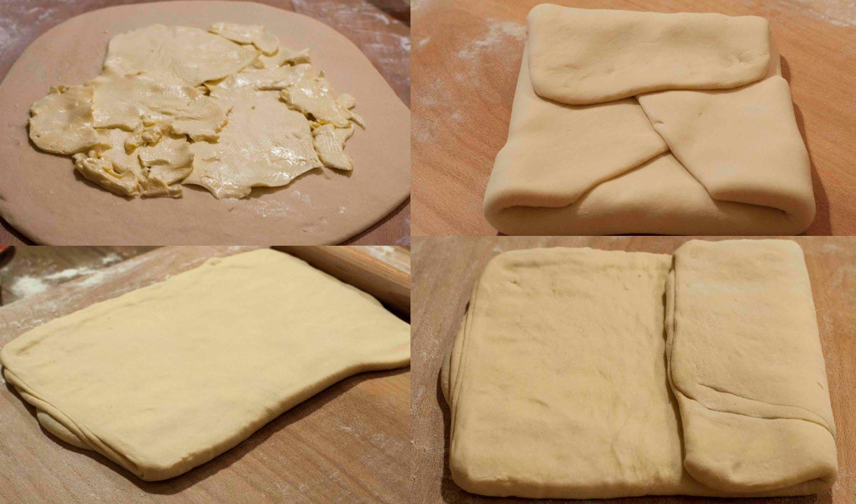 Folding in butter