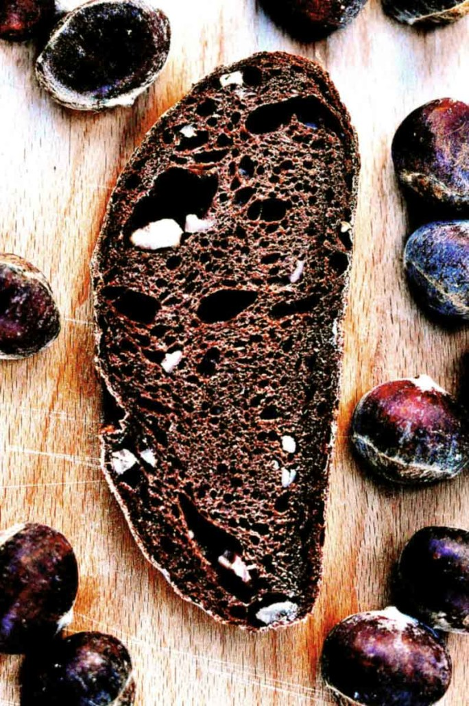 chestnut chocolate sourdough